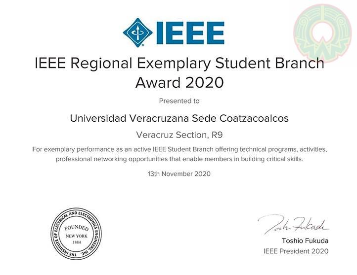 El Instituto de Ingenieros en Electricidad y Electrónica reconoció el desempeño de los estudiantes de la UV