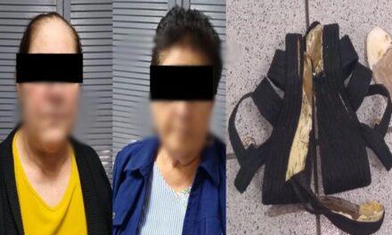 Dos abuelitas fueron detenidas, traían droga en los zapatos