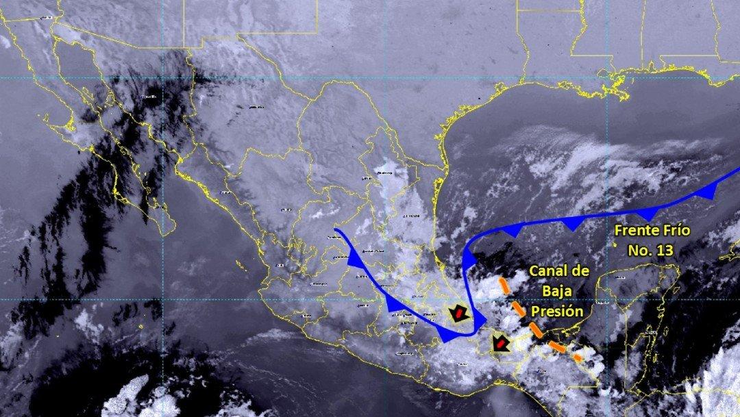 Huracán Iota y frente frío número 13 generarán lluvias en México