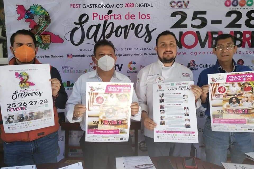 Presenta CGV el Segundo Festival Gastronómico Digital Puerta de los Sabores2020.