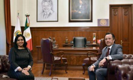 Estrechan Presidenta del Congreso y Gobernador colaboración entre Poderes