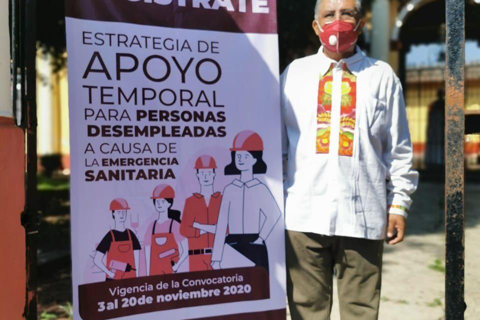 Instalan módulo para ofrecer empleo temporal a habitantes de Coatepec