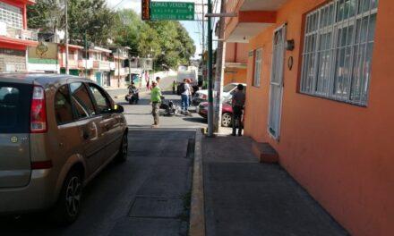 Motociclista lesionado en la avenida Rébsamen en Xalapa