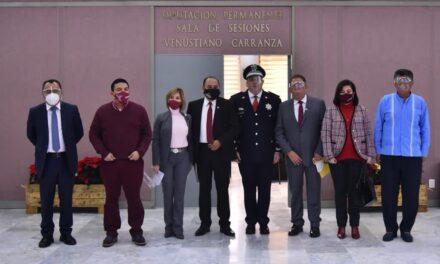 Gómez Cazarín da seguimiento a su agenda legislativa