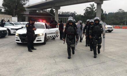 Operativo de la GN en la caseta de Tlalpan, de la México-Cuernavaca, extreme precauciones.