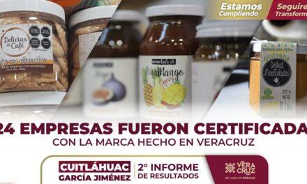 Con la marca #HechoEnVeracruz se continúa apoyando a empresas veracruzanas