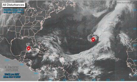 """Theta"""" es la tormenta número 29 en lo que va del 2020, se encuentra en la zona del Atlántico norte y se desplaza hacia al este a 24 kilómetros por hora."""
