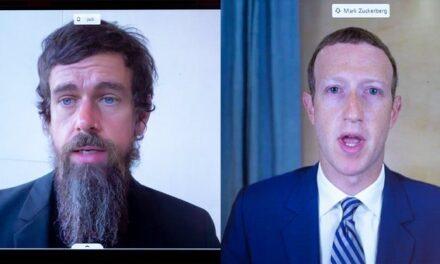 En estos momentos se encuentran declarando en el senado de EE.UU el creador de Facebook y Twitter .