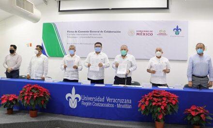 UV firmó convenio con Corredor Interoceánico del Istmo de Tehuantepec