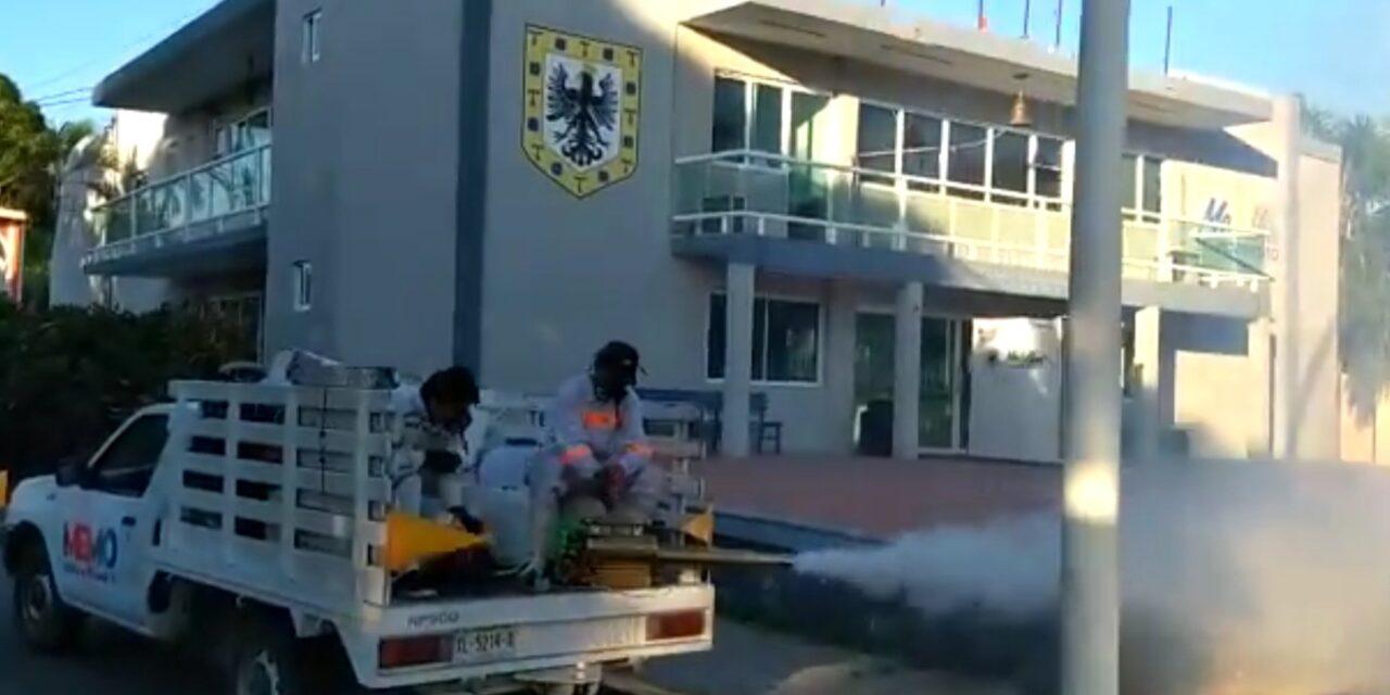 """MEMO """"Medellín en Movimiento"""" continúa con campaña de fumigación en Medellín de Bravo"""