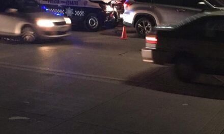 Accidente de tránsito sobre la avenida Lázaro Cárdenas, a la altura de Agua Santa en Xalapa