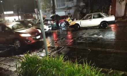 Accidente de tránsito sobre la avenida Ignacio de La Llave