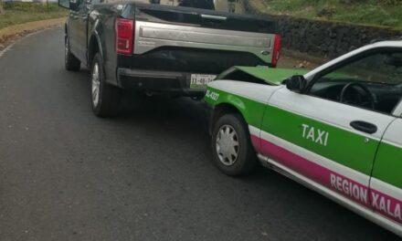 Accidente de tránsito sobre la avenida Murillo Vidal en Xalapa