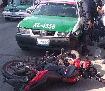 Motociclista lesionado en la avenida México de la Colonia Revolución de Xalapa