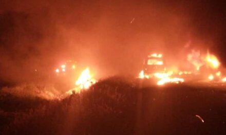 Fuerte accidente de tránsito pipa explotó en la autopista La Tinaja – Cosoleacaque