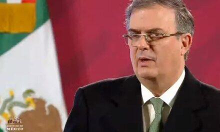 El canciller Marcelo Ebrard aseguró que el primer lote de vacuna de Pfizer sí llegará a México antes de que termine el año