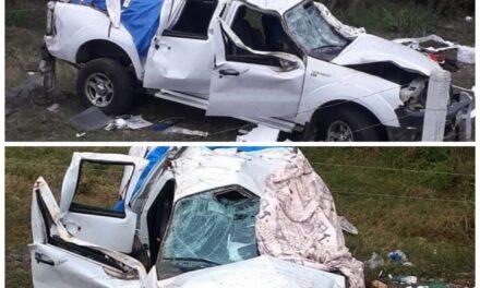 Fuerte accidente en la autopista Totomoxtle-Cardel, a la altura de Paso Largo en el municipio de Tecolutla.