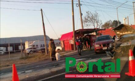 Accidente en la carretera Xalapa – Veracruz, a la altura de El Lencero