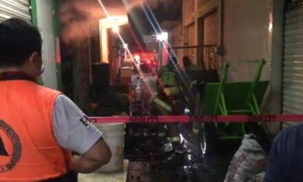 Se registra incendio en local del mercado Malibrán en la ciudad de Veracruz