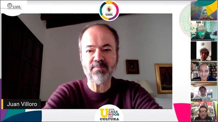 Juan Villoro, coordinador de los cursos de la FLM, alabó la colaboración de la UV y de la UANL en esta edición