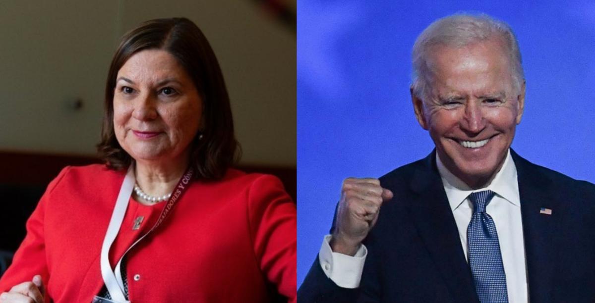 La embajadora de México en EEUU Martha Barcena, estará presente en la toma presidencial de Biden