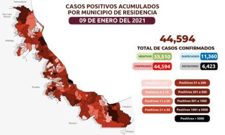 En Veracruz 408 nuevos casos positivos y 35 decesos por covid-19