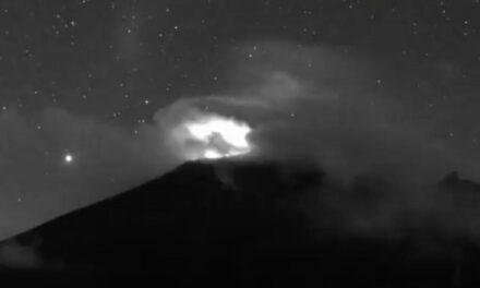 Exhaló 62 ocasiones Popocatépetl en 24 horas