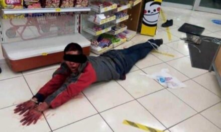 Lo amarraron como puerco! Sujeto intenta asaltar farmacia Guadalajara en Veracruz
