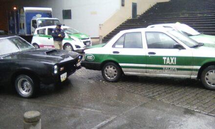 Accidente de tránsito en la calle Zaragoza, Xalapa