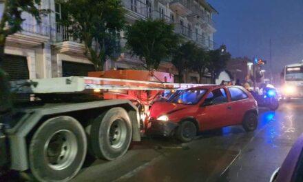 Accidente de tránsito sobre la avenida Lázaro Cárdenas, Xalapa