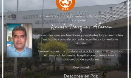 Fallece trabajador del Centro de Alta Especialidad de Xalapa