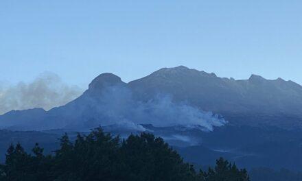 De esta forma se percibió el incendio que afectó las laderas del Iztaccíhuatl
