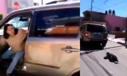 Video: Indignante, Mujer arrastra a un perro con una camioneta en Puebla