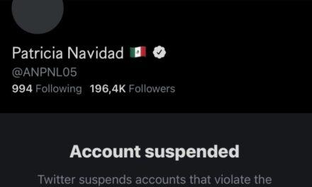 Twitter suspende la cuenta de Paty Navidad