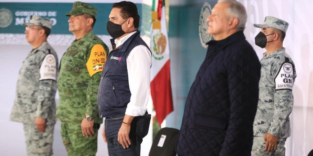 Inaugura López Obrador instalaciones de la Guardia Nacional en Zamora de Hidalgo