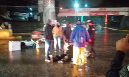 Motociclista lesionado en accidente, a la altura de Caxa