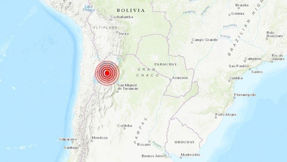 Sismo magnitud 6.1 sacude a Argentina este domingo