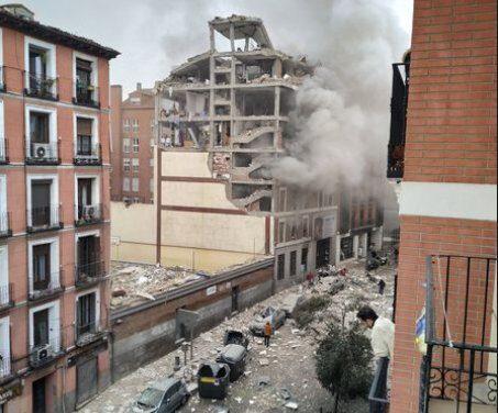 Tres fallecidos y una docena de heridos en la explosión en Madrid