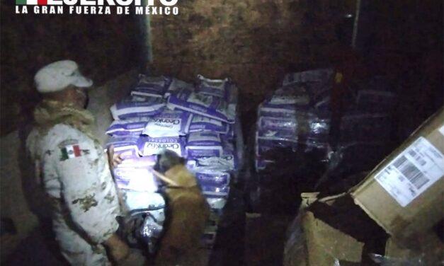 El Ejército Mexicano asegura más de 240 millones de pesos en metanfetaminas, en el estado de Baja California Sur