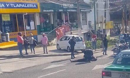 Motociclista lesionado en la avenida Manuel Ávila Camacho