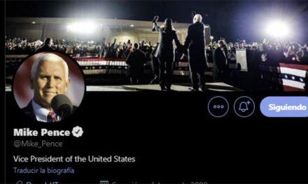 Mike Pence cambia foto en Twitter y manda fuerte mensaje en apoyo a Biden y Harris