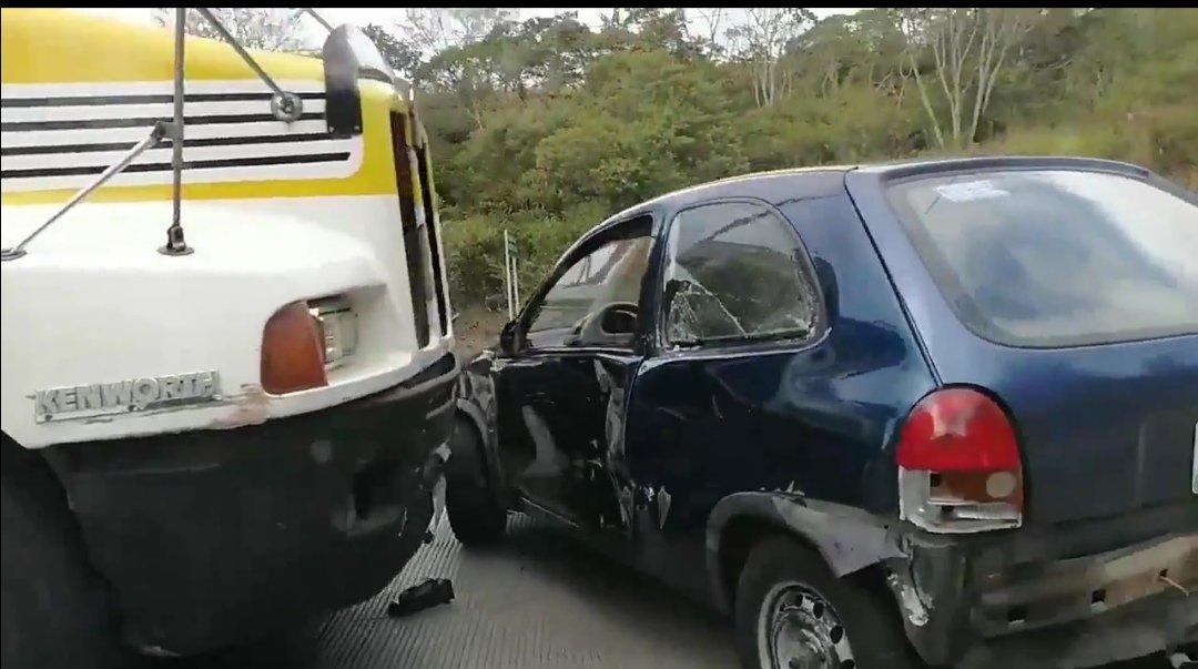 Accidente en la carretera Xalapa-Coatepec
