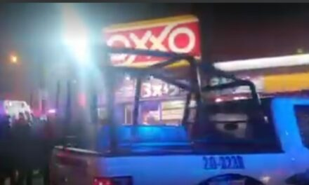Asaltante a Oxxo resulta herido en Xalapa