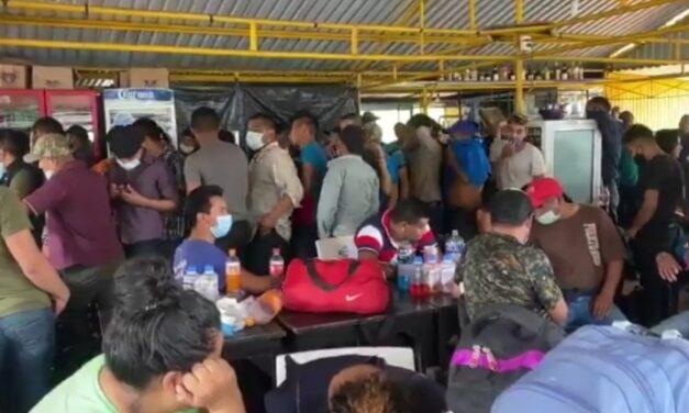 Guardia Nacional aseguró a 128 migrantes centroamericanos en el sur de Veracruz