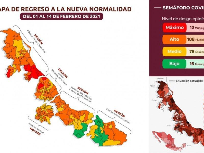 Este lunes entra en vigor nuevo semáforo de COVID-19 en Veracruz; checa tu municipio