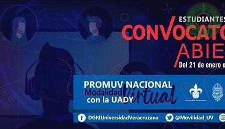 UV invita a movilidad virtual con la Universidad Autónoma de Yucatán