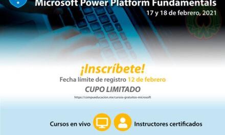 UV invita a curso gratuito Microsoft Power Platform Fundamentals