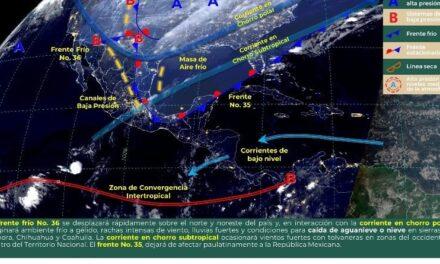 Décima Tormenta Invernal, originará lluvias, vientos y ambientes gélidos