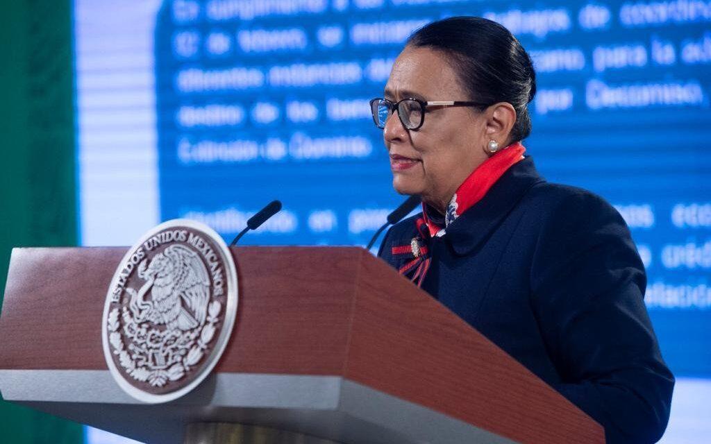 Bienes asegurados al crimen organizado suman 485 millones 261 mil 177.32 pesos: Rosa Icela Rodríguez Velázquez
