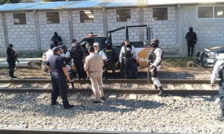 Mantiene IPAX vigilancia permanente en zona ferroviaria, en Acultzingo